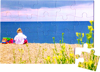 20 piece personalised jigsaw puzzle example