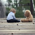 personalised jigsaw puzzle example young boy and bear
